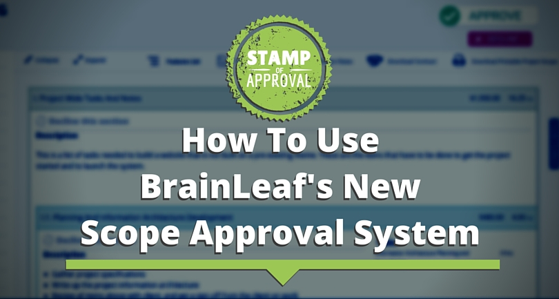 How To Use BrainLeaf's New Scope Approval System