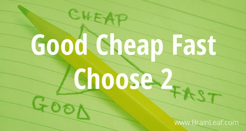 Good Cheap Fast – Choose Two
