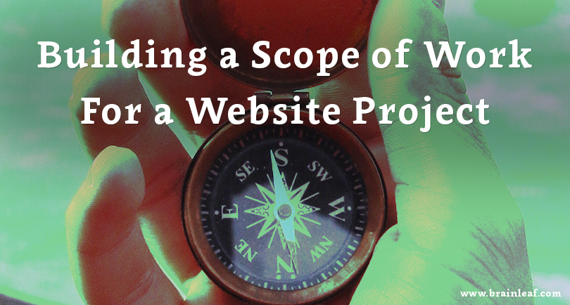 Building a Scope of Work (SOW) document for a website project