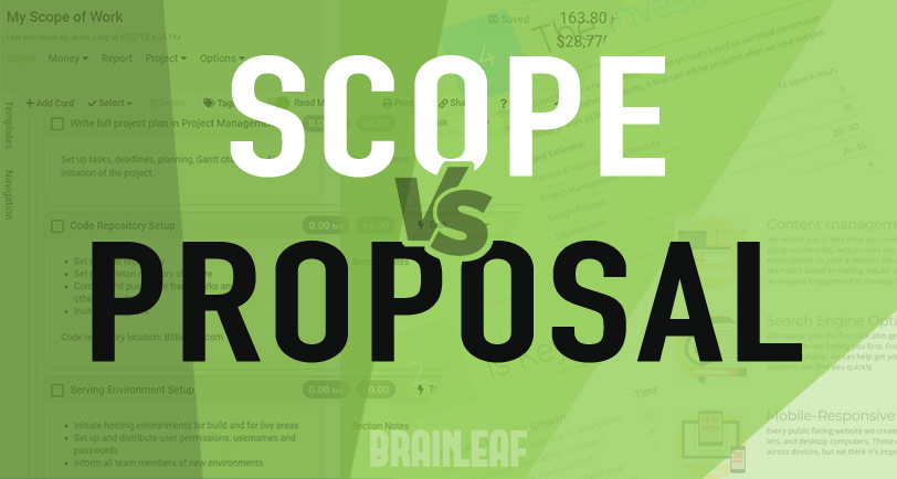 Scope vs. Proposal