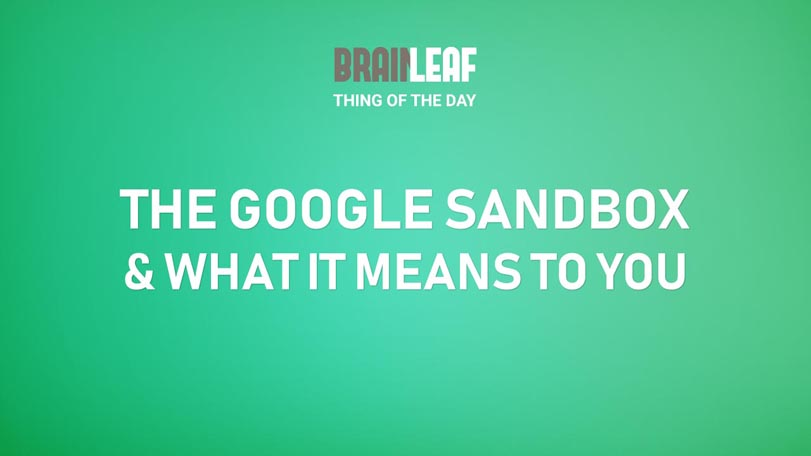 What Is The Google Sandbox And What Does It Mean?