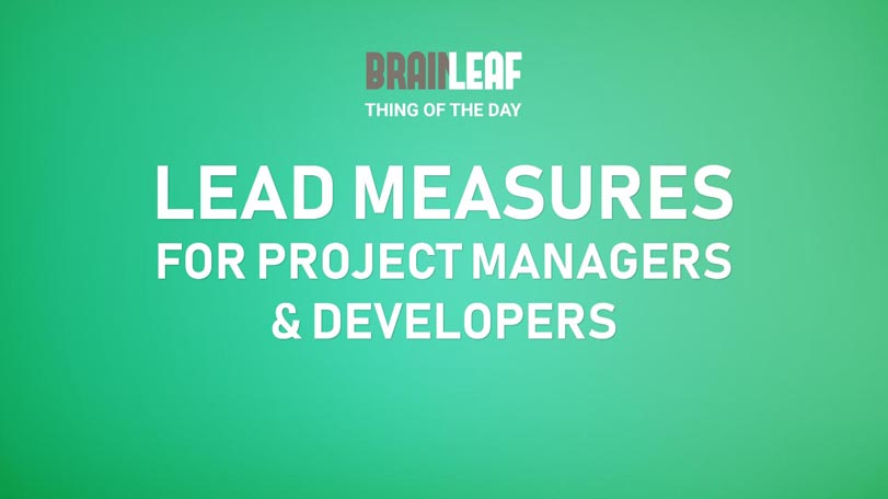 Lead Measures For Project Managers And Production Team Members